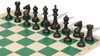 Guardian Carry-All Plastic Chess Set Black & Ivory Pieces with Green Roll-up Chess Board & Bag