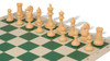 ProTourney Carry-All Plastic Chess Set Black & Camel Pieces with Green Roll-up Chess Board & Bag