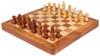 "Acacia Wood Folding Magnetic Travel Chess Set - 7"""