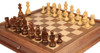 "German Knight Staunton Chess Set in Acacia & Boxwood with Walnut Chess Case - 3.25"" King"