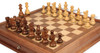 "French Lardy Staunton Chess Set Acacia and Boxwood Pieces with Walnut Chess Case 3.25"" King - Zoom 1"