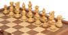 "French Lardy Staunton Chess Set Acacia and Boxwood Pieces with Walnut Chess Case 3.25"" King - Boxwood Zoom"