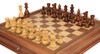 "French Lardy Staunton Chess Set Acacia and Boxwood Pieces with Walnut Chess Case 3.25"" King - Zoom 2"