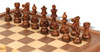 "French Lardy Staunton Chess Set Acacia and Boxwood Pieces with Walnut Chess Case 3.25"" King - Acacia Zoom"