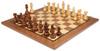 "French Lardy Staunton Chess Set Acacia & Boxwood Pieces with Classic Walnut Chess Board - 3.25"" King"