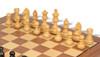 "German Knight Staunton Chess Set Ebonized and Natural Boxwood Pieces with Walnut Chess Board and Box 3.75"" King - Boxwood"
