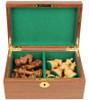 "Fierce Knight Staunton Chess Set Golden Rosewood & Boxwood Pieces with Walnut Board & Box - 3.5"" King"