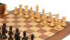 "New Exclusive Staunton Chess Set Ebonized & Boxwood Pieces with Walnut Board & Box - 3"" King"