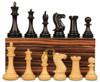 "New Exclusive Staunton Chess Set Ebony & Boxwood Pieces with Macassar Ebony Chess Box  - 4"" King"