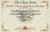 "Yugoslavia Staunton Chess Set Ebonized & Boxwood Pieces with Mahogany Chess Box - 3.25"" King"