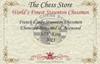 "French Lardy Staunton Chess Set Ebonized and Boxwood Pieces 3.75"" King Certificate"