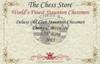 "Deluxe Old Club Staunton Chess Set in Ebony & Boxwood with Mahogany Board & Box - 3.25"" King"
