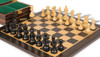"French Lardy Staunton Chess Set Ebonized and Boxwood Pieces with Macassar Ebony Chess Board and Box 2.75"" King - Zoom"