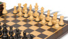 "French Lardy Staunton Chess Set Ebonized and Boxwood Pieces with Macassar Ebony Chess Board and Box 2.75"" King - Boxwood Zoom"