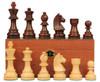 "German Knight Staunton in Rosewood & Boxwood with Mahogany Box - 3.25"" King"