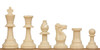 Standard Club Easy-Carry Weighted Plastic Chess Set Black & Ivory Pieces - Green
