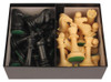 "Protourney Plastic Chess Set Black & Camel Pieces with Box - 3.75"" king"