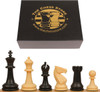 """Guardian Plastic Chess Set Black & Camel Pieces with Box - 4"""" King"""