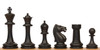 Master Series Weighted Plastic Chess Set Black & Tan Pieces with Brown Roll-up Chess Board