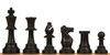 Analysis-Size Plastic Chess Set Black & Ivory Pieces with Black Roll-up Chess Board