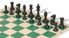 Club Tourney Series Plastic Chess Set Black & Camel Pieces with Green Roll-up Chess Board
