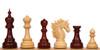 "Bucephalus Staunton Chess Set Padauk and Boxwood Pieces 4.5"" King"