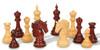 "Bucephalus Staunton Chess Set Padauk and Boxwood Pieces 4.5"" King Scattered"