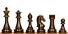 """Staunton Copper & Bronze Finish Chess Set - 4.25"""" King"""