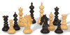 "Marengo Staunton Chess Set Ebony and Boxwood Pieces 4.25"" King Scattered"