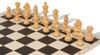 German Knight Carry-All Chess Set Package Ebonized & Boxwood Pieces - Black