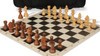 German Knight Carry-All Chess Set Package Acacia & Boxwood Pieces - Black