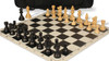 French Lardy Carry-All Chess Set Package Ebonized & Boxwood Pieces - Black