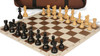 French Lardy Carry-All Chess Set Package Ebonized & Boxwood Pieces - Brown