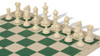 Guardian Easy-Carry Plastic Chess Set Black & Ivory Pieces with Green Roll-up Chess Board & Bag
