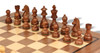 "German Knight Staunton Chess Set Acacia and Boxwood Pieces 3.75"" King with Walnut Chess Board Acacia Zoom"