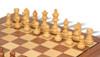 "German Knight Staunton Chess Set Acacia and Boxwood Pieces with Walnut Chess Board and Box 3.75"" King - Box"