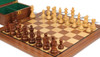 """French Lardy Staunton Chess Set Acacia and Boxwood Pieces with Walnut Chess Board and Box 3.25"""" King - Zoom"""