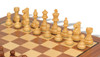 """French Lardy Staunton Chess Set Acacia and Boxwood Pieces with Walnut Chess Board and Box 3.25"""" King - Boxwood Zoom"""