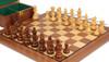 "French Lardy Staunton Chess Set Acacia & Boxwood Pieces with Walnut Board & Box - 3.75"" King"