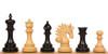 "Marengo Staunton Chess Set Ebony and Boxwood Pieces 4.25"" King"