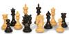 "Marengo Staunton Chess Set Ebony and Boxwood Pieces 4.25"" King Scattered"