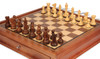 "New Exclusive Staunton Chess Set in Acacia & Boxwood with Walnut Chess Case - 3"" King"