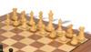 "British Staunton Chess Set in Ebonized & Boxwood with Walnut Board & Box - 4"" King"