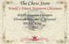 "British Staunton Chess Set Ebony & Boxwood Pieces with Macassar Ebony Chess Box - 4"" King"