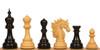 "Bucephalus Staunton Chess Set Ebony and Boxwood Pieces 4.5"" King"