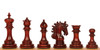 "Marengo Staunton Chess Set Padauk Pieces 4.25"" King"