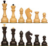 Russian Playing Set Antique Reproduction Chess Set Ebonized & Boxwood  Pieces