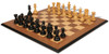 Hadrian Staunton Chess Set in Ebony & Boxwood with Walnut Molded Edge Chess Board