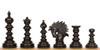 Strategos Staunton Chess Set in Ebony & Boxwood with Walnut Molded Edge Chess Board