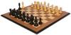 Marengo Staunton Chess Set in Ebony & Boxwood with Walnut Molded Edge Chess Board